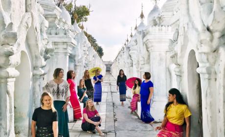 Фотоотчет о первом девичнике в Мьянме, Новый год 2018