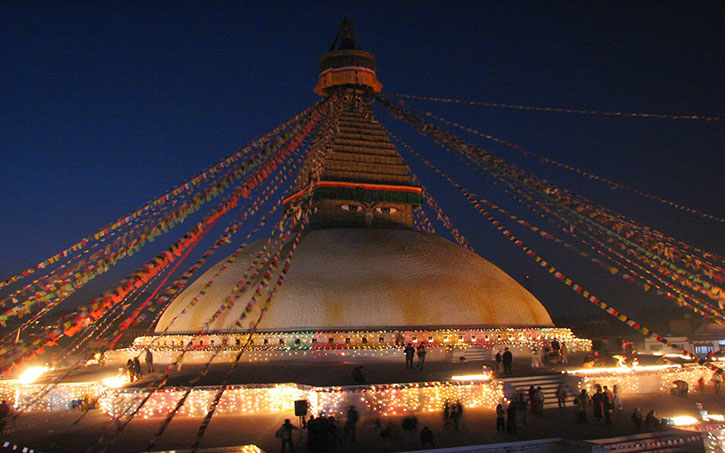 Boudhanath-at-night-Kathmandu-Nepal