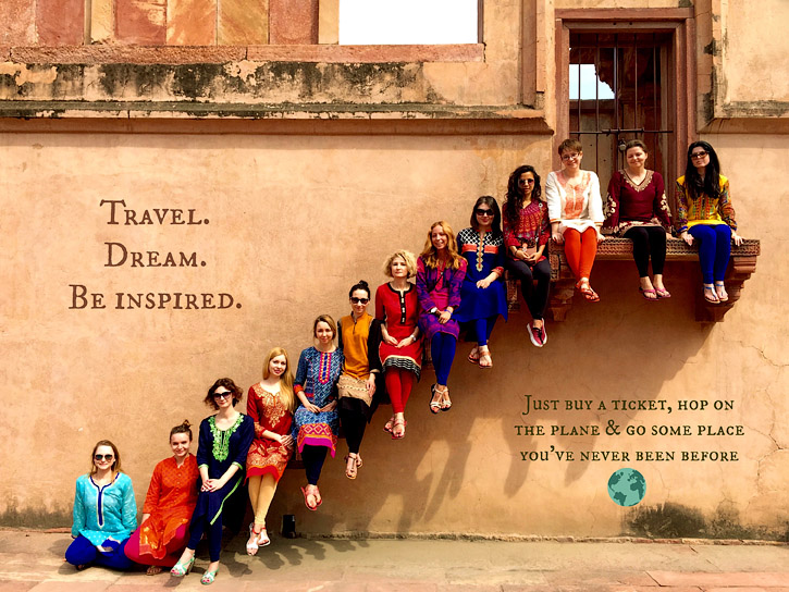 Girls in travel
