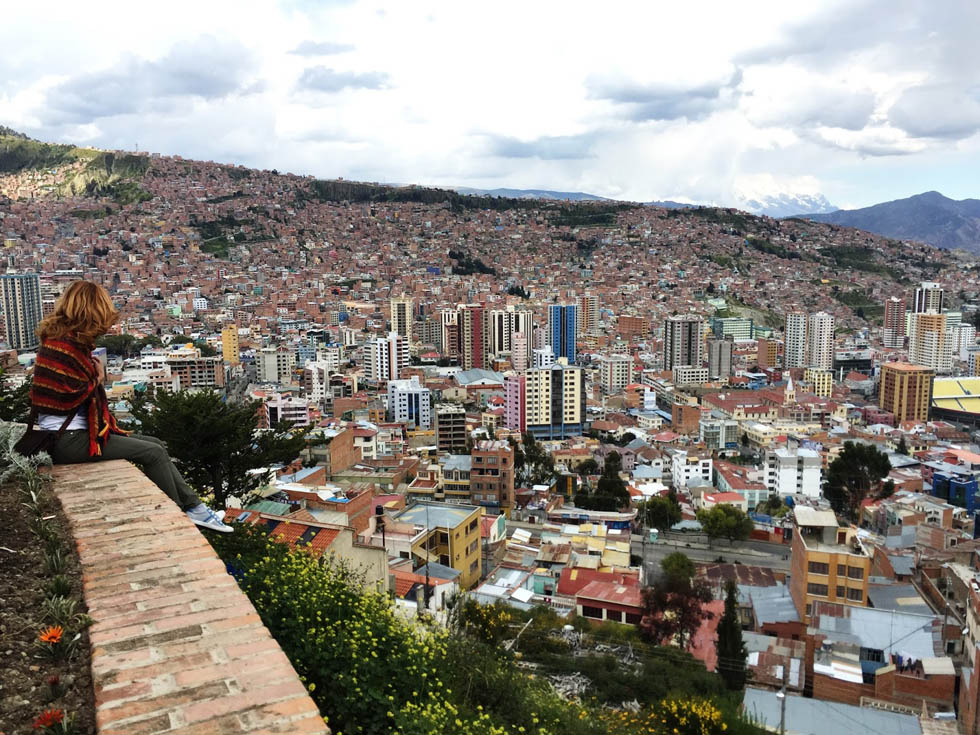 Боливия. Вид на город Ла-Паса