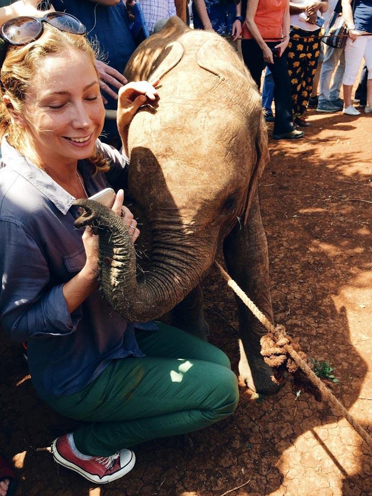 Пообщаться с малышами-слониками в центре Дэвида Шелдрика